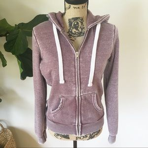 Reflex acid wash zipper hoodie Size Medium